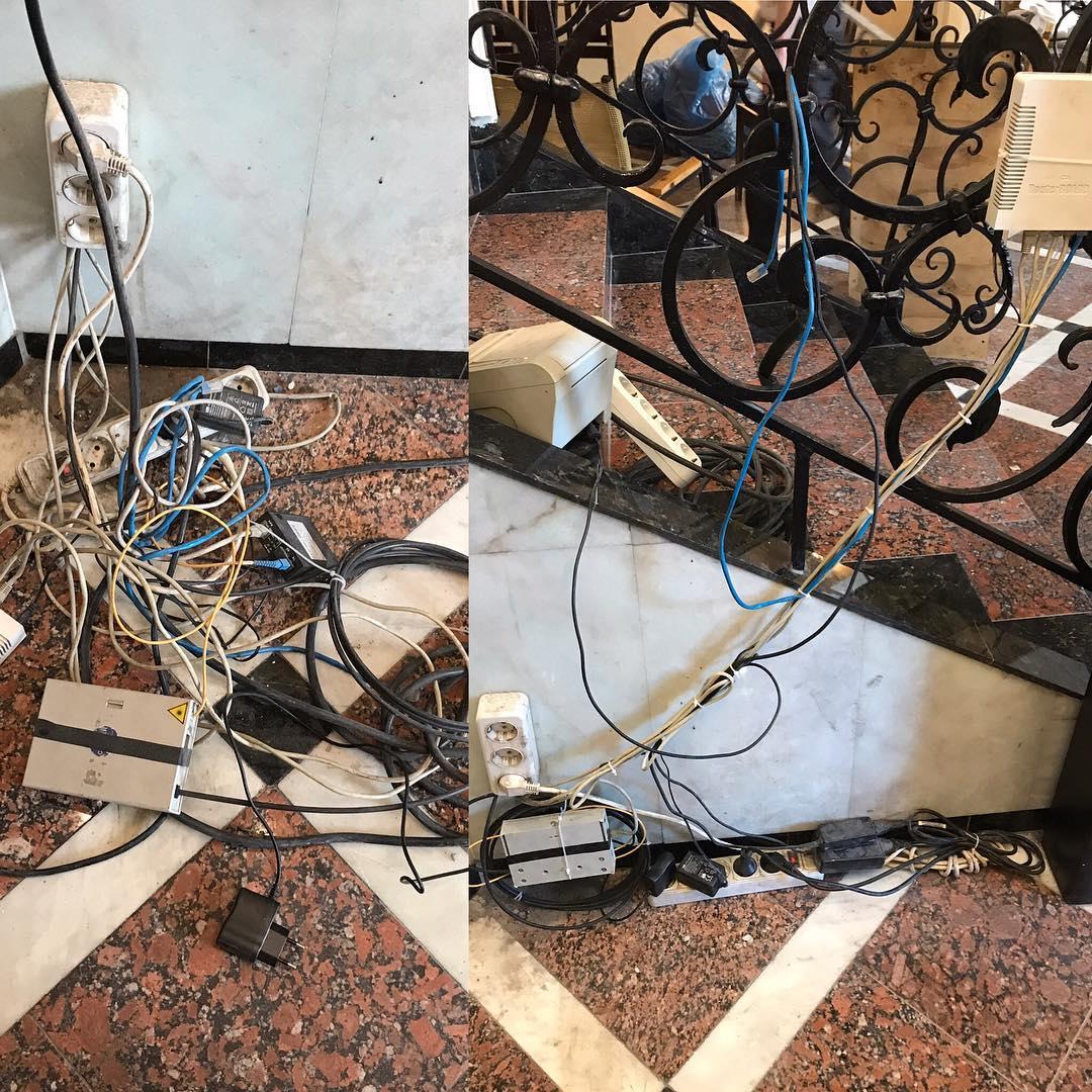 Немного привел в порядок провода в Итальянском квартале
